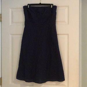 JCrew Navy Strapless Dress